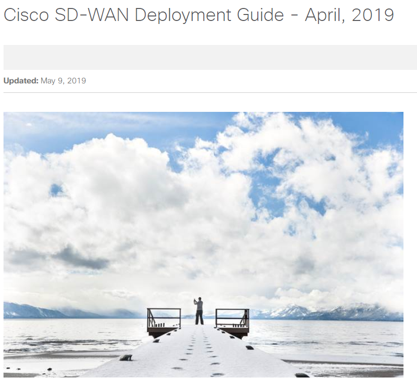 Cisco SD-WAN Deployment Guide - April, 2019 — Dmitry Golovach